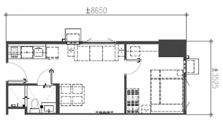 1-Bedroom End Unit