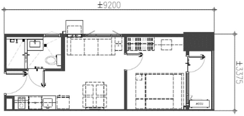 1-Bedroom End Unit w balcony