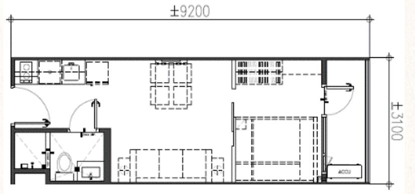 1-Bedroom Unit w balcony