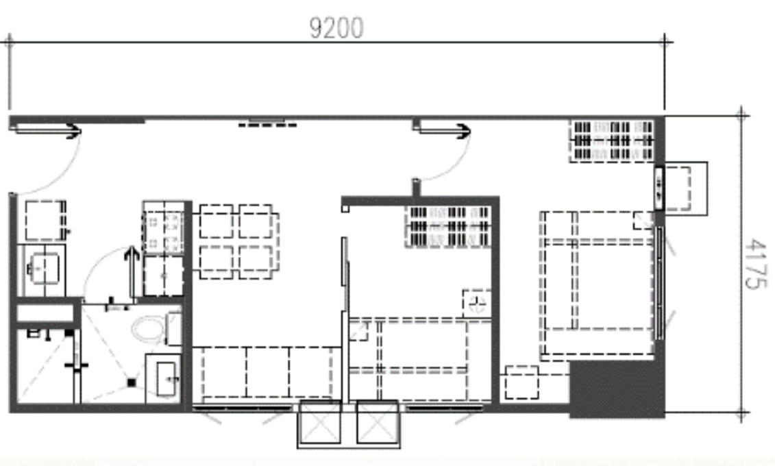 2-Bedroom End Unit
