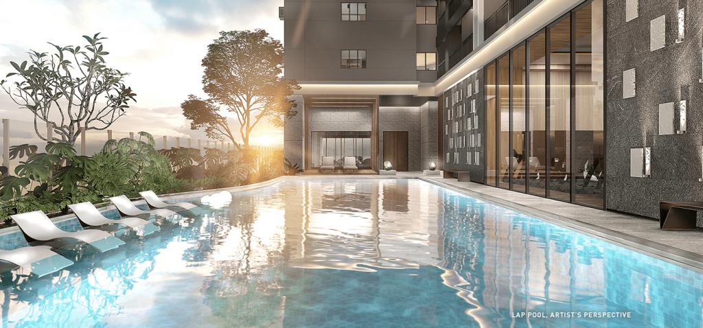 Lap Pool in Sands Residences