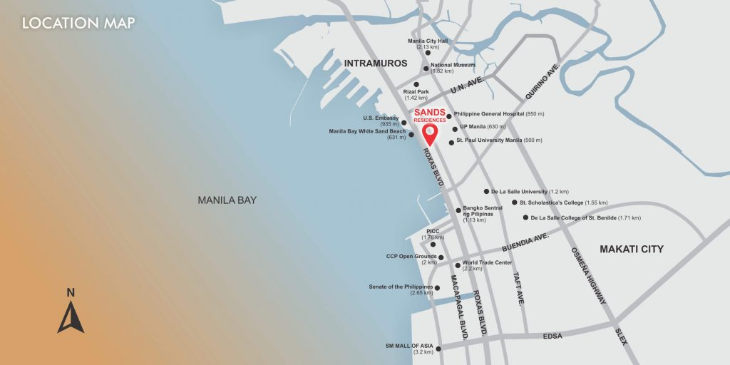 Location Map of Sands Residences